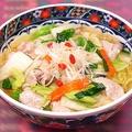料理メニュー写真白菜と豚肉のうま煮そば
