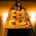 当店自慢のお食事をごゆっくりお愉しみいただけるテーブル席は当日のご利用におすすめです。自慢の山麓鶏や炊き立て釜飯など至極の和食を存分にお愉しみください。(八王子・居酒屋・個室・焼き鳥・飲み放題・宴会)