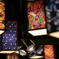 『和』の空間を醸し出す、和紙提灯のオブジェが上品な空間を演出。非日常感を盛り上げます♪