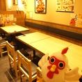 【池袋東口】簡単に席替えできるテーブル席!