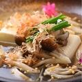 料理メニュー写真蒸し豆腐きのこ餡かけ