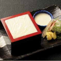 料理メニュー写真手作り枡豆腐