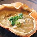 料理メニュー写真蟹味噌甲羅焼き〈1ヶ〉