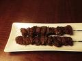 料理メニュー写真ラム串/鶏ハツ串