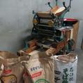 こだわりのそばはこの製麺機で作られています。