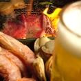 【キンキンに冷えた生ビール♪】!冷たいビールと焼肉のゴールデンコンビ♪