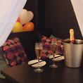 【お誕生日にサプライズ♪】カーテン個室で少人数の誕生日会も☆