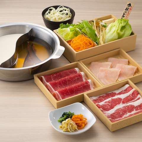 ◆厳選牛のだししゃぶ膳 1749円(税込)