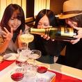【お誕生日にサプライズ♪】4名様以上の場合、+200円でシャンパンタワーも☆