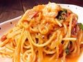 料理メニュー写真エビのトマトクリームスパゲティー 【1.7mm乾麺パスタ】
