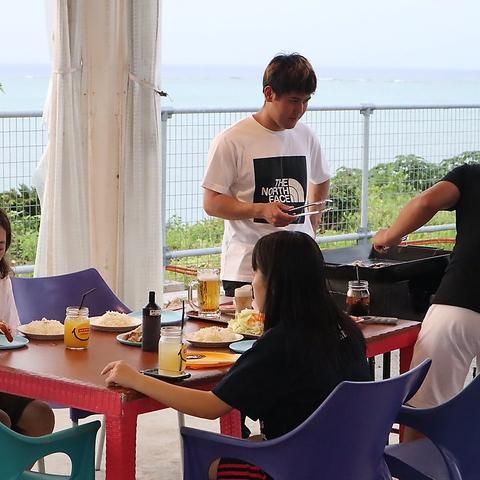◆BBQ MIX◆ 肉&魚介バーベキュープラン! 肉も魚介もよくばりBBQ☆