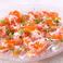 料理メニュー写真【海の幸三種のせ】蟹といくらと炙りサーモンの贅沢カルパッチヨ