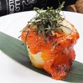 料理メニュー写真山芋とホタテ貝のウニ焼き