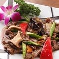 季節野菜と牛肉の特製炒め 1300円