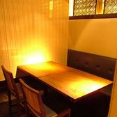 テーブルでの4名様用個室です。