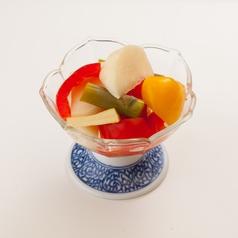 料理メニュー写真酸味のやさしい 野菜の手作りピクルス