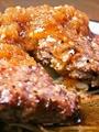 料理メニュー写真黒毛和牛ハンバーグおろし和風ソース
