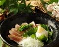 料理メニュー写真朝〆鶏のタタキ