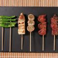 料理メニュー写真串の盛り合わせ 5種