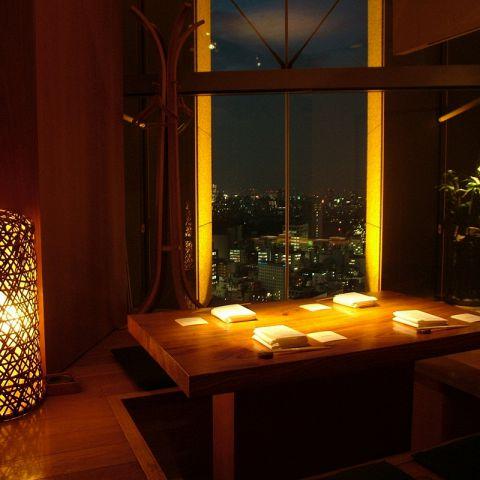 和食ダイニング【春秋】には掘りごたつの個室席も。少人数でもご利用いただけます。