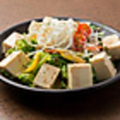 豆腐の胡麻サラダ
