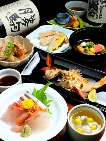金沢/近江町市場から徒歩1分!旬の素材を味わう居酒屋!3~16名迄の掘り炬燵個室も◎