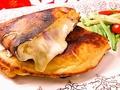 料理メニュー写真オリジナル ベーコンチーズパンケーキ