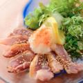 料理メニュー写真【お刺身】知覧鶏のももたたき