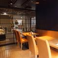 個室もつかえます。プライベートな空間ゆっくりとお食事をお楽しみください。