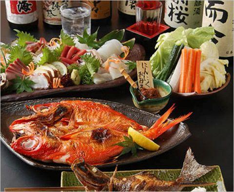 獲れたて鮮魚を丸ごと一尾、浜焼きの豪快さが売り!鮮魚を食べるなら角打へ!