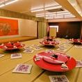 店内は最大120名様まで収容可能です。結婚式二次会や大規模宴会も承ります。