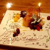 誕生日や記念日のお祝いを当店で…。