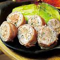 料理メニュー写真豚巻き餃子定食
