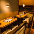 最大8名様用の個室空間のテーブル席