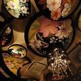 天井には花々の絵が描かれています。