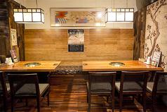 【1階半個室】最大10名様迄。4名・6名のテーブル席です。