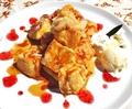 料理メニュー写真自家製パンのフレンチトースト ☆りんごキャラメル