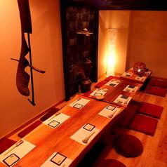 【完全個室】仕切りを外すと最大16名様までご利用頂ける完全個室。[天文館/鹿児島/居酒屋/和食/割烹料理/飲み放題/宴会/個室/完全個室/接待/肉/魚]