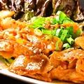 料理メニュー写真とりエリンギバター/豚キムチ炒/せせりキムチ炒/キノコバター炒/豚肉野菜炒/豚肉しょうが焼