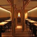 【Private Seat】カーテンで仕切られた半個室のお席。10名様~最大25名様までご利用頂けます。ご宴会・パーティー等でご利用下さい。