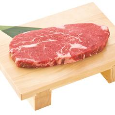 料理メニュー写真熟成赤身ロースステーキ