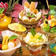 デザートの種類も豊富!食事した後のデザート利用にも◎