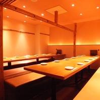 大宴会のできる個室♪12席~24席のお席あります!