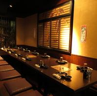 個室も大小豊富で、席間隔を空けてのご案内が可能