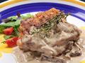 料理メニュー写真〔griglia del pollo〕鶏もも肉のグリル  選べる3種のソース