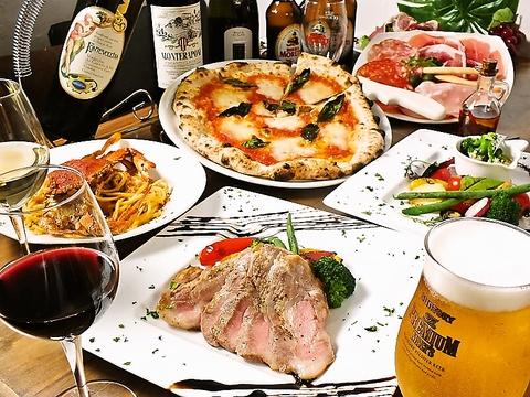 【テイクアウトのみ営業中】窯焼きのピッツァにパスタ、県産食材の絶品料理を!