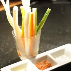 料理メニュー写真4種の野菜スティック