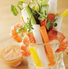 料理メニュー写真五色スティックサラダ