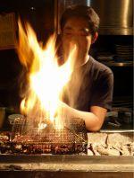 備長炭の串焼き