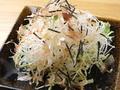 料理メニュー写真だいこん梅サラダ、シーザーサラダ、ヘルシー豆腐サラダ